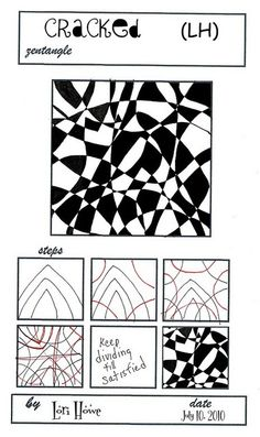 Zentangle pattern cracked