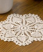 easy doily crochet patterns free | WC1717 Vintage Crochet Pineapple Doily