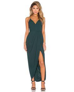 Shona joy Stellar Crepe Maxi Dress in Green (Seaweed) | Lyst