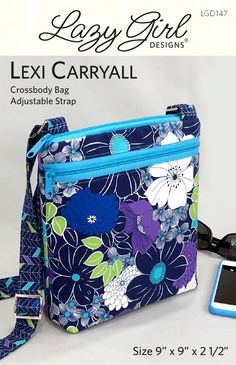 dc59c525b62b5 Lexi Carryall By Hawley, Joan - Smart crossbody bag with adjustable strap  (1in wide