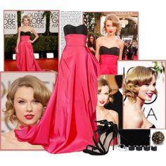 Taylor Swift by rfultrastars on Polyvore featuring moda, Carvela, Pieces, Maison Margiela, Allurez and L'Objet