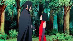 Sasuke and Sarada Uchiha Sasuke Uchiha, Naruto Gif, Naruto Shippuden, Naruto Family, Naruto Couples, Boruto Naruto Next Generations, Sakura And Sasuke, Sakura Haruno, Naruto Clans