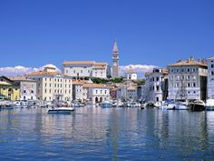 Piran, one of the coastal towns.