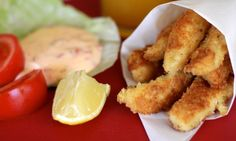 Chicken dippers. Add a tangy sweet chilli dipping sauce and some salad for a really tasty lunch.  Chicken breast.