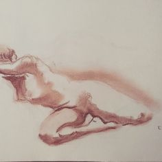 Live drawing (not complete image)  Sanguina on paper Jan '15 #Classwork