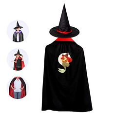Coototo Drift_for_tnite Halloween Party Garment Kids Cloak Creatively Witch Cape & Hat for Children Boys Girl Red Best Halloween Costumes & Dresses USA Childrens Halloween Costumes, Halloween Carnival, Dog Costumes, Halloween Outfits, Vampire Costumes, Witch Costumes, Corgi Funny, Corgi Dog, Halloween Vampire