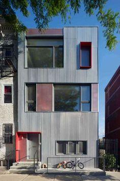 Fassadenfarbe beispiele gestaltung bungalow  Beispiele für Fassadenfarben | Fassadenfarbe, Rot und Innovativ