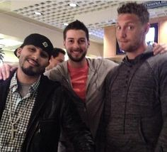 Sergio Romo, George Kontos and Hunter Pence
