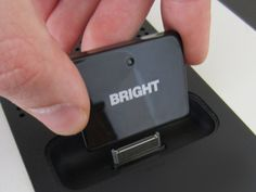 The  BrightPlay iPhone Bluetooth Audio Receiver/Adapter is a 30 pin Bluetooth Audio Receiver that plugs into any existing 30 pin dock device. You then pair your iPhone or iPad to the BrightPlay via Bluetooth and your old speakers or audio device now works with your brand new iPhone or iPad.