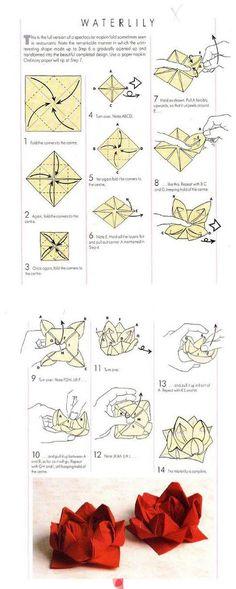 DIY Serviette falten - Waterlilly - für Mrs. A. Gebäck - - - - - napkins folded like this look really cute