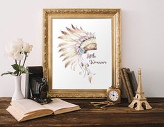 Tribal Native American Headdress Printable by MossAndTwigPrints
