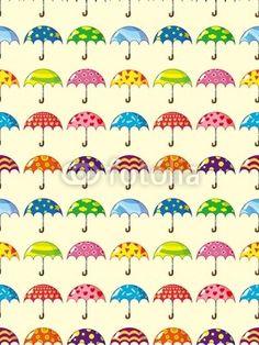 Vecteur : seamless umbrella pattern
