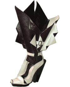 Oh my! How unique are these fabulous shoes! Where would you wear them?