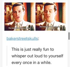 Yes, it is.  Especially if you think it in Andrew Scott's voice.