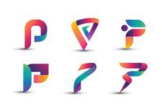 Abstract Colorful P Logo - Set of Letter P Logo - Buy this stock vector and explore similar vectors at Adobe Stock P Logo Design, Logo Design Services, Graphic Design Branding, Logos, Typography Logo, Lab Logo, Logo Shapes, Logo Creation, Alphabet Design