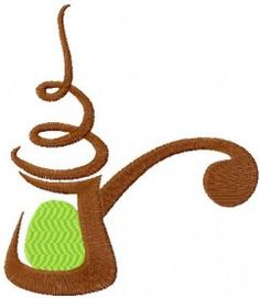 Coffee pot free machine embroidery design. Machine embroidery design. www.embroideres.com