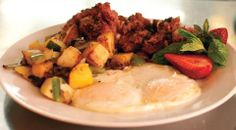 "Recipe of the Day... Corned Beef Hash Patties, from Putah Creek Cafe on MAIN STREET in Winters, CA. This recipe is featured on page-212-213 in our; ""Taste of Main Street America"" cookbook. www.RecipePubs.com Ingredients: 7-8 lb. corned beef, raw 5 oz. bacon grease 1/2 c. chopped onion 2 1/2 c. chopped green pepper 3 c. russet potatoes, peeled, cut in small cubes, par boiled till soft 1 c. beef broth or broth from the corned beef 3 tsp. kosher salt 3 tsp. black ground pepper"