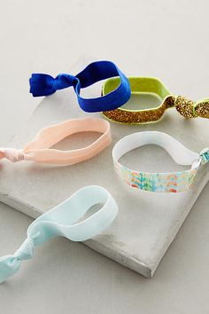 fun hair ties + workout essentials