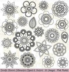 Mandalas/flowers patterns