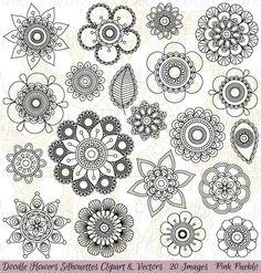 Mandalas/flowers patterns