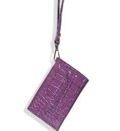 Purple Fashion Cell Phone Holder Wristlet Wallet