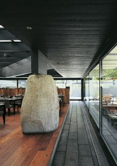 All Interior Design Inspiration you can digest Wood Architecture, Amazing Architecture, Architecture Details, Cafe Restaurant, Restaurant Design, Interior Exterior, Interior Design, Restaurants, Fireplace Design
