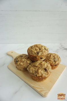 Applesauce Oatmeal Muffins – Simply Oatmeal Oatmeal Applesauce Cookies, Oatmeal Muffins, Healthy Breakfast Recipes, Yummy Snacks, Healthy Snacks, Muffin Recipes, Baking Recipes, Food To Make, Desserts