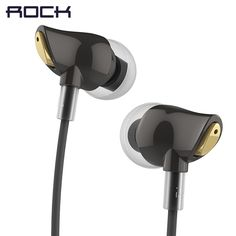 ROCK In Ear Zircon Stereo Earphone, Headset 3.5mm Luxury Earbuds For iPhone Samsung With Mic clear bass  Price: 10.70 USD