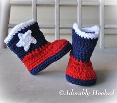 Houston Texans  Crochet Baby Booties,