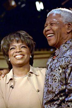 Oprah interviews Nelson Mandela.