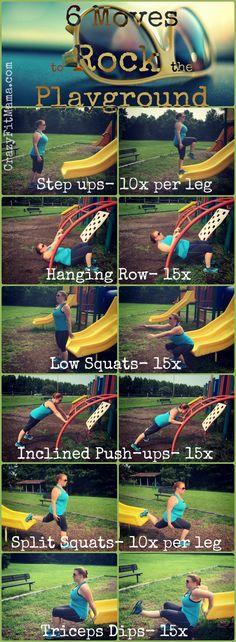 6 moves to rock the playground: CrazyFitMama.com