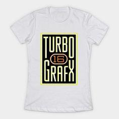 Lightly Distressed Turbografx 16 Shirt Womens T-Shirt