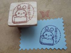 Stamp ハンドメイド消しゴムはんこうさぎ(お届け物です) インテリア 雑貨 Handmade ¥350yen 〆05月19日