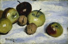 Renoir 1865-70c Apples and Walnuts oil on canvas 13.3 x 20.3 cm Fitzwilliam Museum, University of Cambridge, UK
