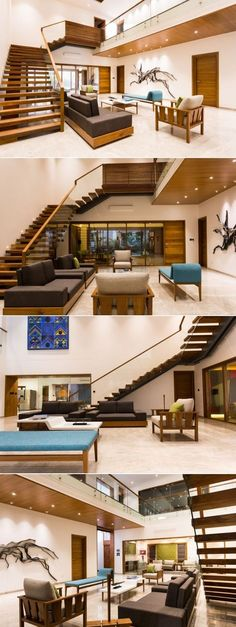 """Modern & Neat Residential Interiors VPA Architects, The client wanted a """"neat interior"""" translated into simple functionals with low maintenance details. Modern Apartment Design, Bungalow House Design, Apartment Interior, Modern House Design, Room Interior, Bungalow Designs, Bungalow Living Rooms, Small Bungalow, Bungalow Interiors"""