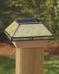 Deckorators® Lighting and Accessories by Maine Ornamental®: Solar Glass Post Caps, Post Cap, Decorative Post Cap, Custom Deck Design, Decorative Post Caps