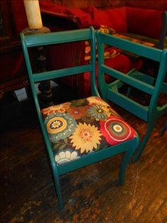Some vintage chairs I am repurposing