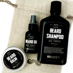 Beard Care Kit: Big Forest Beard Wash, Beard Oil & Beard Balm - by OneDTQ - Best Beard Care