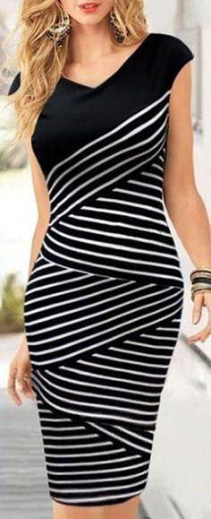 Stripe Bondage Dress //