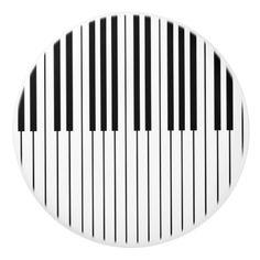 Piano Keys ivory white and black Ceramic Knob