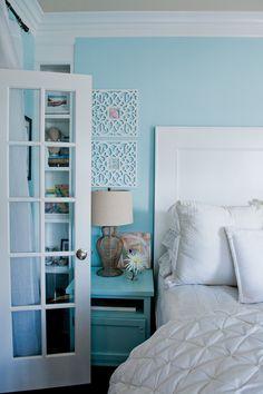 Um sonho de suíte em azul e branco - Casinha Arrumada