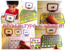 Technology is such a big part of our lives. What better way to make learning fun than to incorporate it into learning activities?So, let's Read it! Type it! Write it! This is a si…