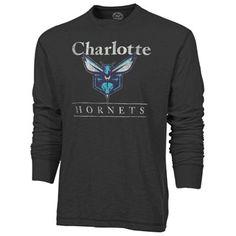 Charlotte Hornets '47 Brand Long Sleeve Scrum T-Shirt – Black