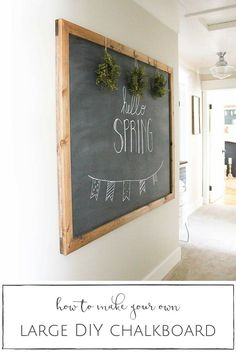 Nice idea for the bulletin board I want to make into a chalkboard...could frame it and I also like the mini wreaths across the top.