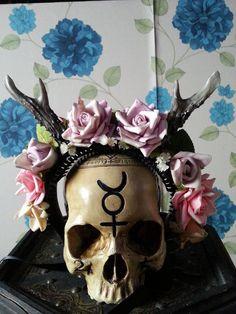 Custom cosplay maenad satyr faun rose antlers door HysteriaMachine, £40.00