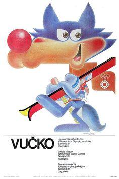 Vucko Official Macot  14 Olympic Winter Games Sarajevo 1984 Yugoslavia