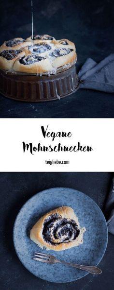 Rezept für leckere vegane Mohnschnecken