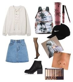 """Untitled #54"" by hlh14 on Polyvore featuring River Island, Calvin Klein, Valentino, NIKE and Kylie Cosmetics"