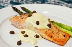 salmão ao molho de mostarda
