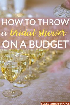 a bridal shower can be expensive, but it doesn't have to be. Here are some ways you can throw a bridal shower on a budget.Throwing a bridal shower can be expensive, but it doesn't have to be. Here are some ways you can throw a bridal shower on a budget. Bridal Shower Planning, Bridal Shower Party, Bridal Shower Decorations, Wedding Planning, Bridal Shower Checklist, Bridal Parties, Bachelorette Parties, Wedding Showers, Themed Bridal Showers